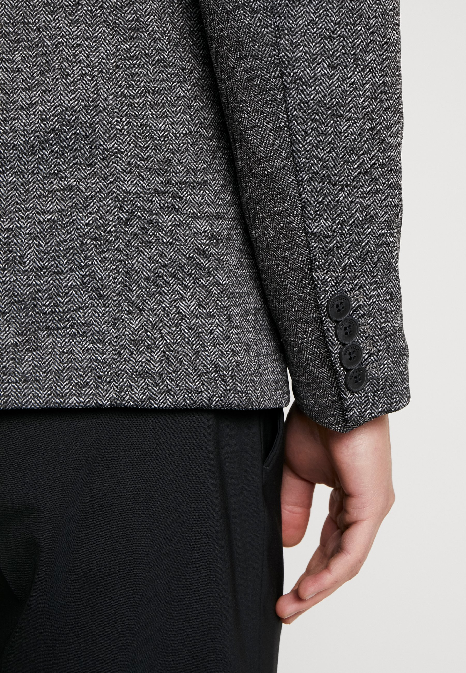 Only & Sons ONSMATTI HERRINGBONE - Blazer jacket - dark grey