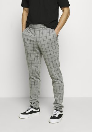 ONSELIAS GRID PANTS - Trousers - light grey melange