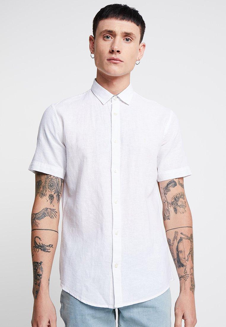 Only & Sons ONSCAIDEN SS LINEN SHIRT NOOS - Koszula - white