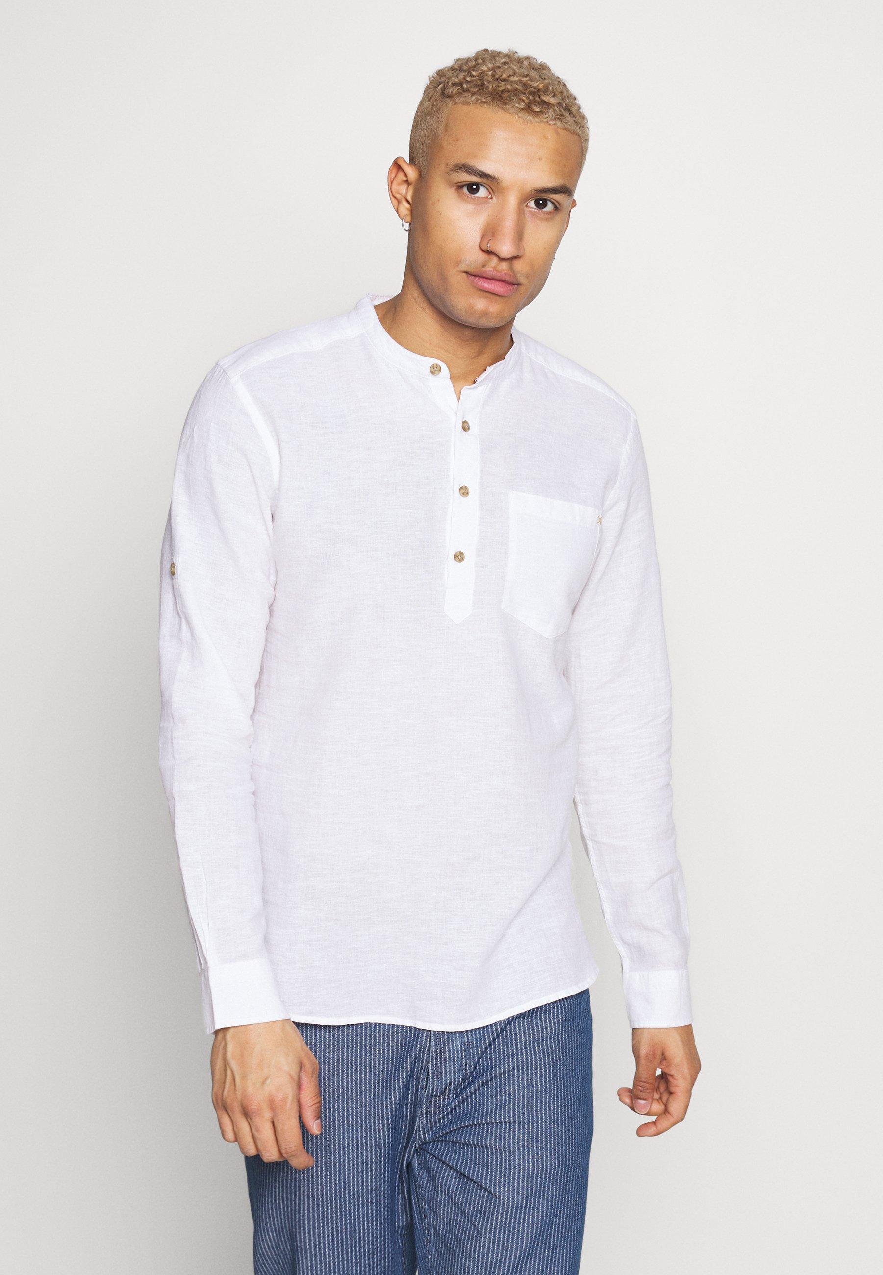 Only & Sons ONSCAIDEN HALF PLACKET - Koszula - white