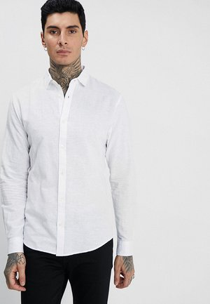 ONSCAIDEN LS SOLID LINEN SHIRT NOOS - Overhemd - white