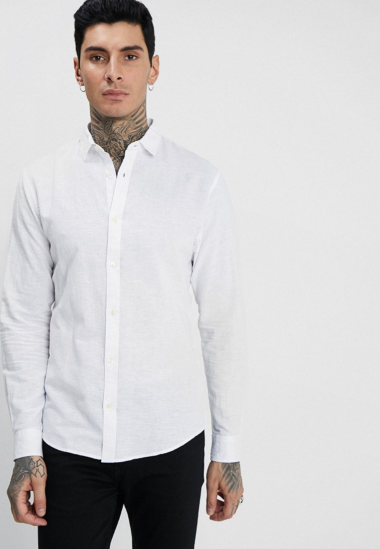 Only & Sons - ONSCAIDEN LS SOLID LINEN SHIRT NOOS - Koszula - white