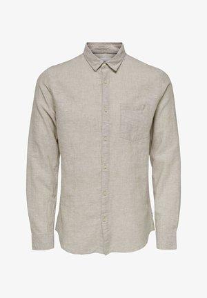 ONSCAIDEN LS SOLID LINEN SHIRT NOOS - Hemd - beige