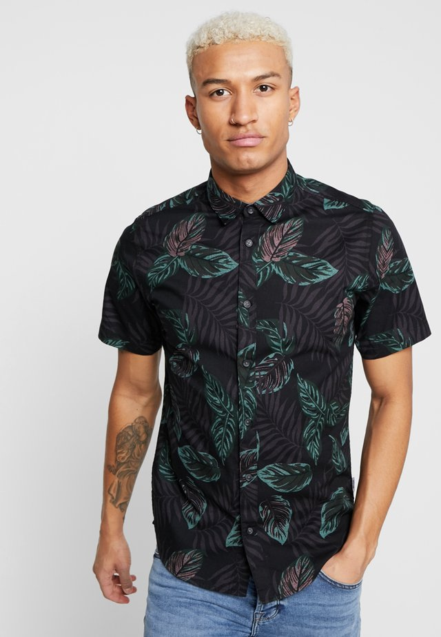 ONSTIMOTHY SS FLORAL SHIRT RE - Skjorta - black