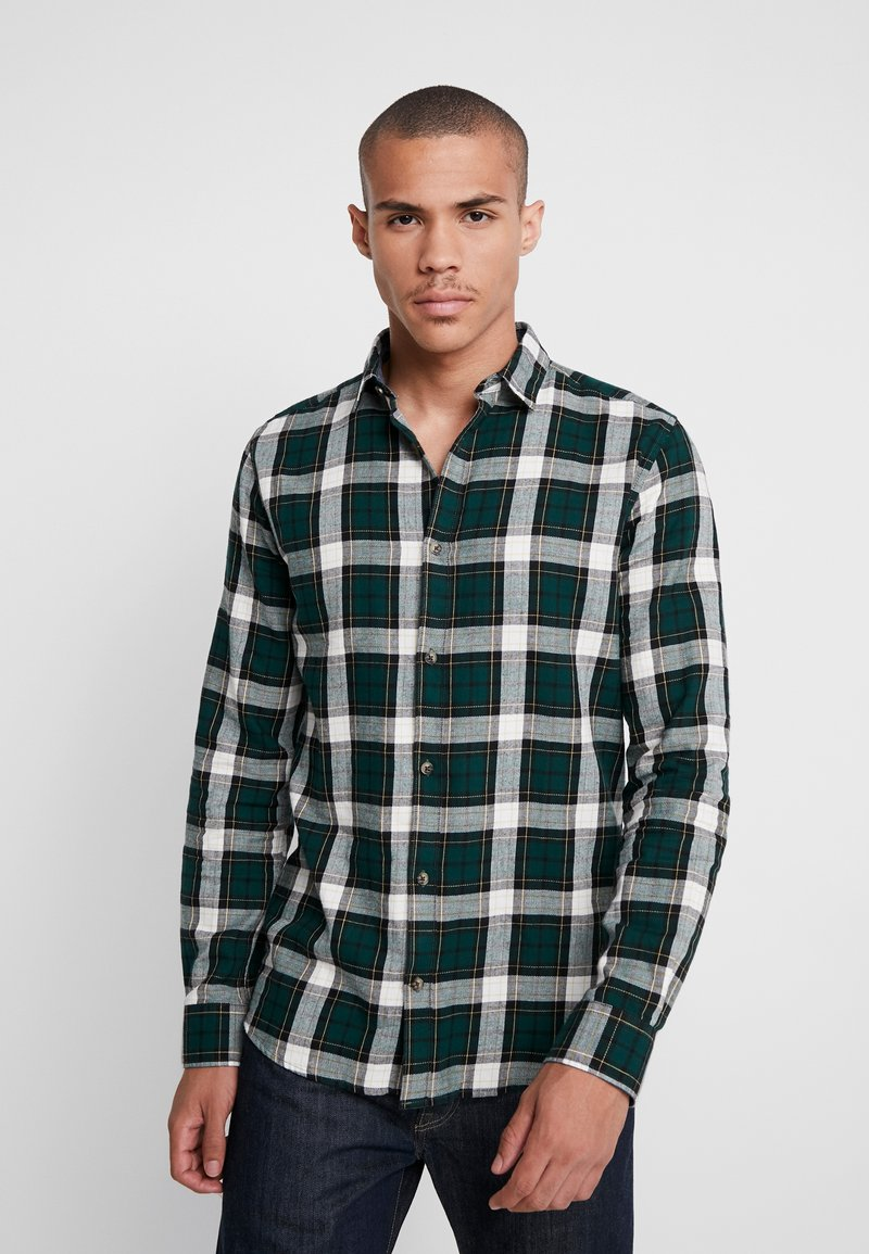 Only & Sons - ONSOMAR CHECKED HERRINGBONE  - Shirt - cilantro