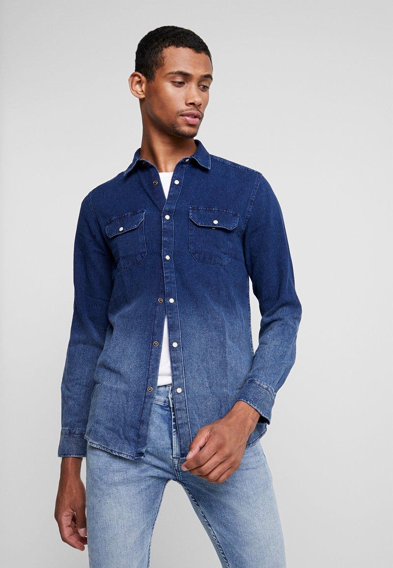 Only & Sons - ONSODELL DIP REGULAR - Camisa - dark blue denim