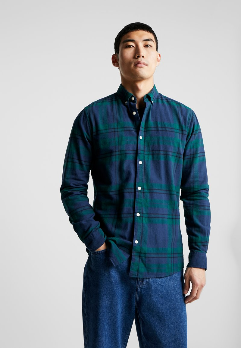 Only & Sons - ONSODAN CHECKED SLIM FIT - Overhemd - forest night