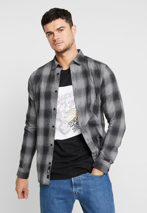ONSEWAN SHADOW CHECK SLIM FIT - Skjorte - medium grey melange