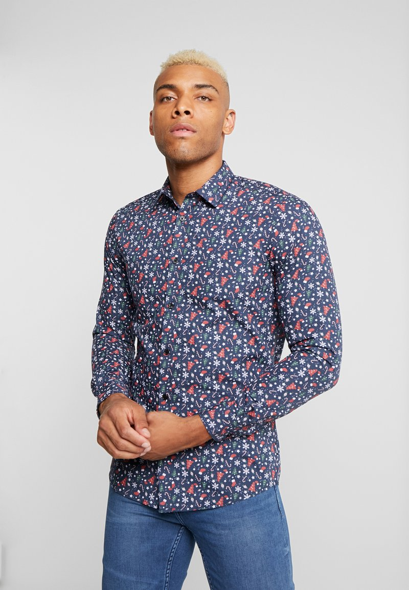Only & Sons - ONSELHAM LS X-MAS - Camicia - blue nights