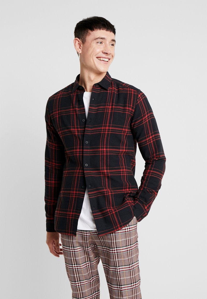 Only & Sons - ONSOTHAN CHECK SHIRT  SLIM FIT - Koszula - pompeian red