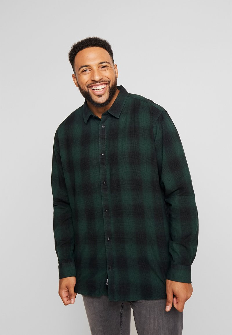 Only & Sons - ONSEWAN SHADOW CHECK SLIM - Košile - darkest spruce