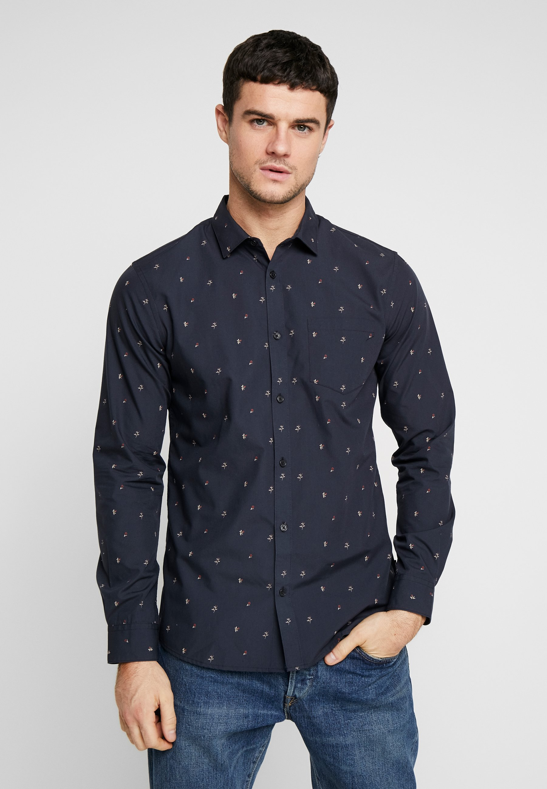 Only & Sons ONSFLOW DITSY SLIM FIT - Koszula - dark navy
