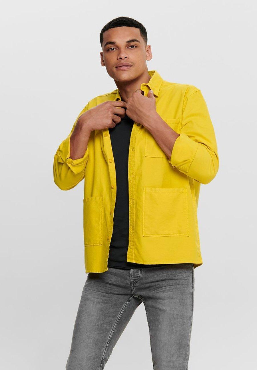 Only & Sons Koszula - lemon curry