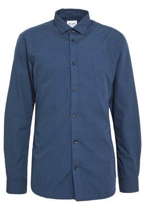 ONSSANE DITSY POPLIN SHIRT SLIM FIT - Vapaa-ajan kauluspaita - dress blues