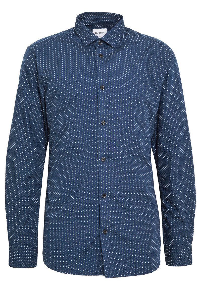 Only & Sons - ONSSANE DITSY POPLIN SHIRT SLIM FIT - Overhemd - dress blues