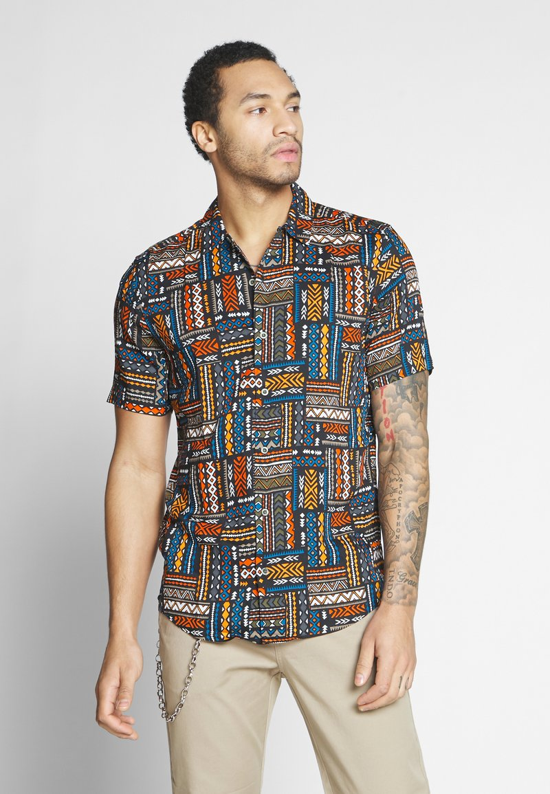 Only & Sons - ONSAARON AZTEC - Shirt - gold flame