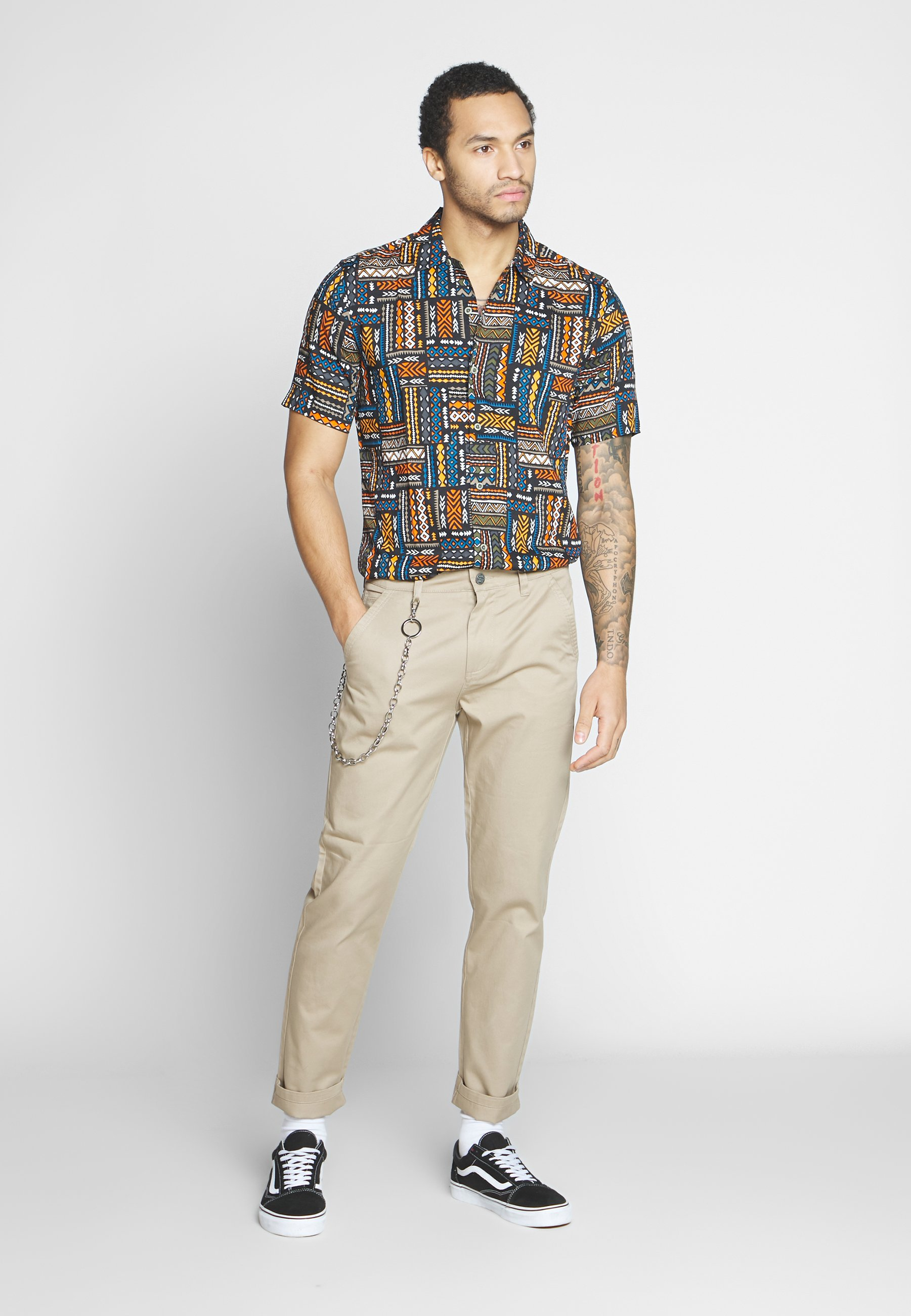 Only & Sons ONSAARON AZTEC - Camicia - gold flame