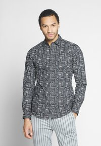 Only & Sons - ONSELROY DITSY AZTEC - Shirt - black - 0