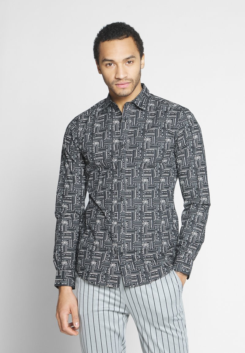 Only & Sons - ONSELROY DITSY AZTEC - Shirt - black