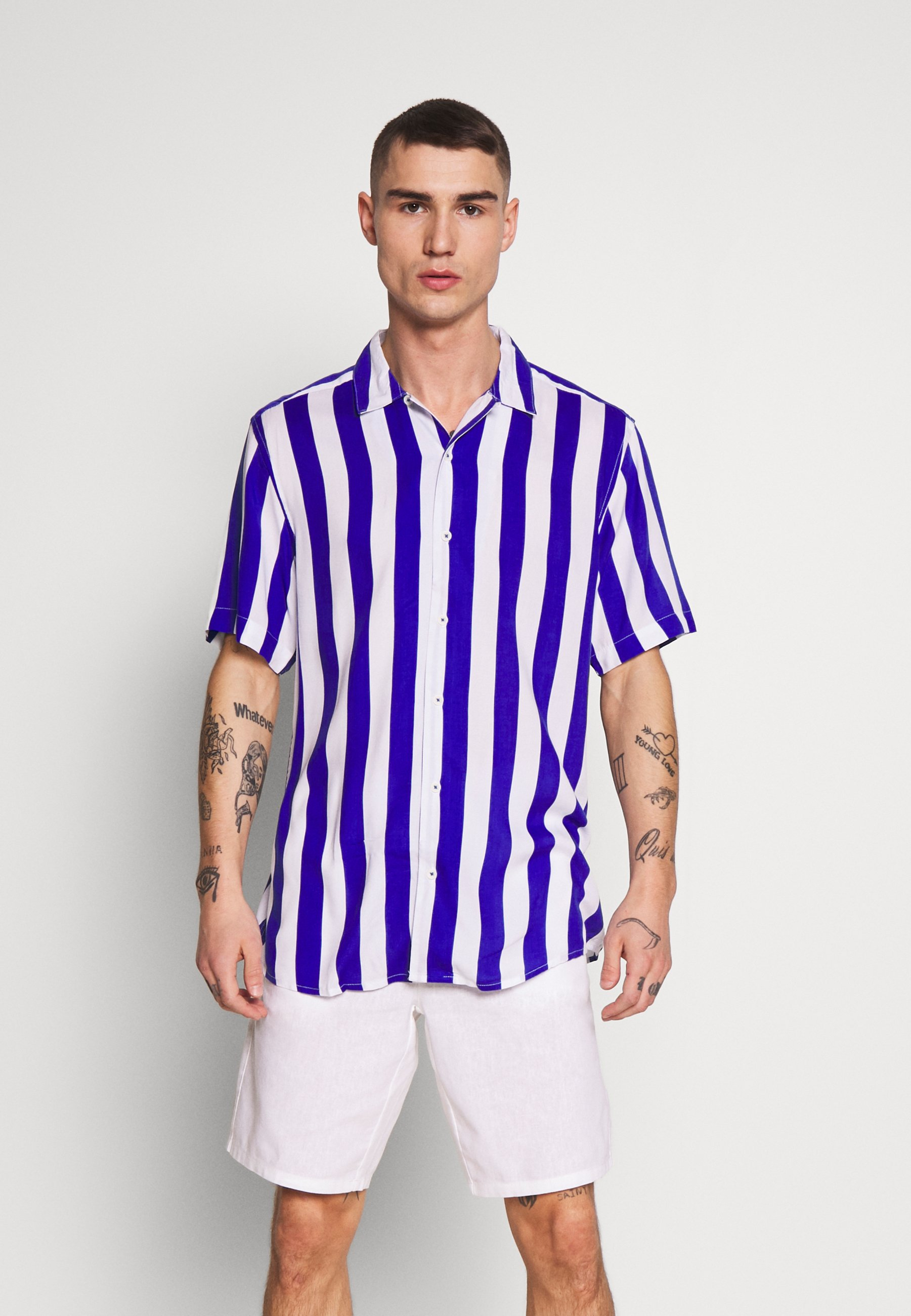 Only & Sons ONSCARTER STRIPED - Koszula - clematis blue