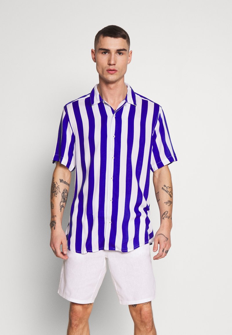 Only & Sons - ONSCARTER STRIPED - Camicia - clematis blue