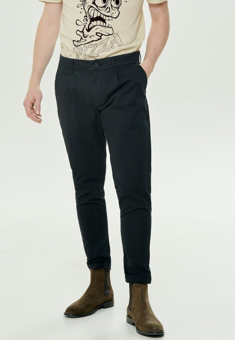 Only & Sons - ONSCAM CROPPED - Tygbyxor - black