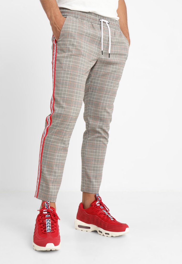 Only & Sons - ONSBILLY CHECKED TAPE PANTS - Stoffhose - crockery