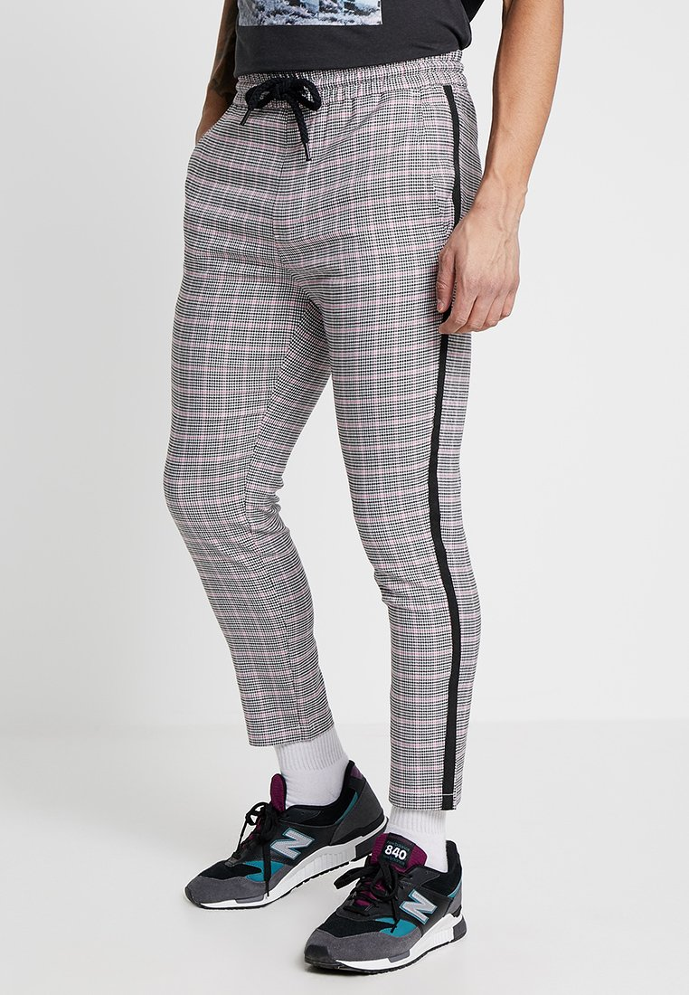Only & Sons - ONSLINUS PANT CHECKS - Stoffhose - chinchilla