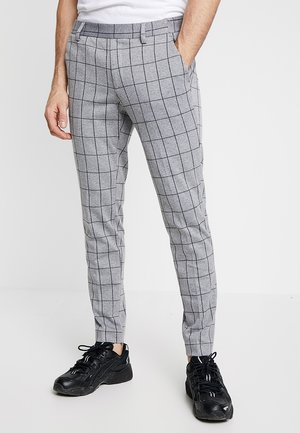 ONSCARL CHECK - Kalhoty - light grey melange