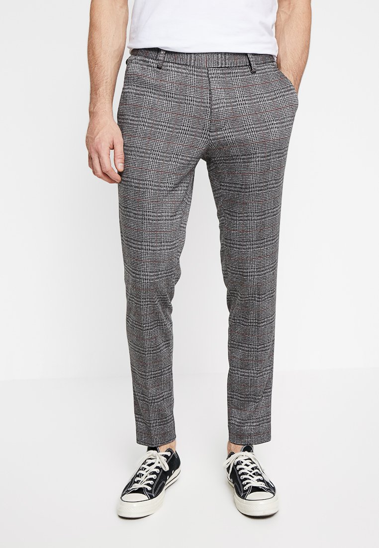 Only & Sons - ONSCARL CHECK - Stoffhose - pompeian red