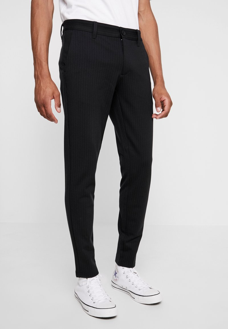 Only & Sons - ONSMARK PANT STRIPE - Trousers - black