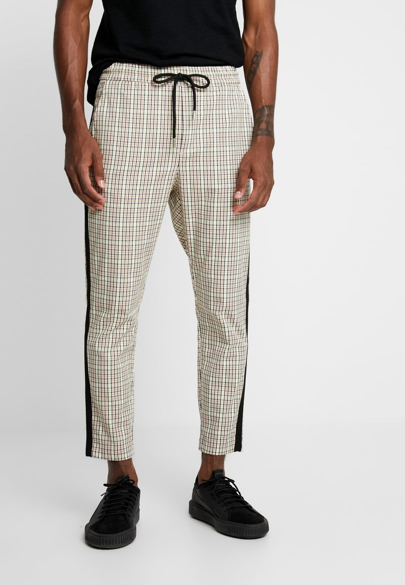 Only & Sons - ONSLINUS CHECK TAPE - Stoffhose - almond