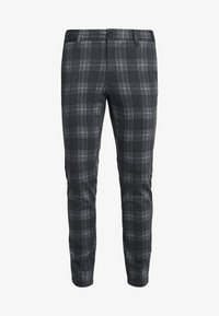 Only & Sons - ONSMARK PANT CHECK - Kangashousut - dark grey melange - 4