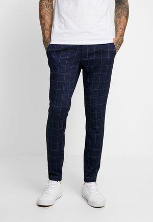ONSMARK PANT CHECK - Spodnie materiałowe - dark navy