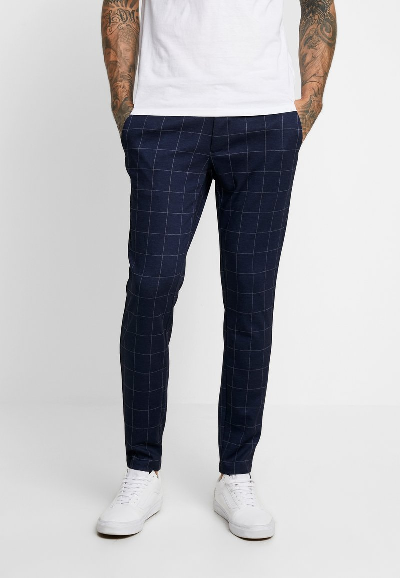 Only & Sons - ONSMARK PANT CHECK - Trousers - dark navy