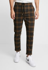 Only & Sons - ONSLINUS CHECK  - Trousers - brown - 0