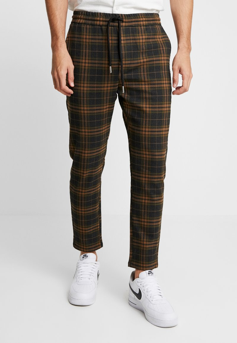 Only & Sons - ONSLINUS CHECK  - Stoffhose - brown