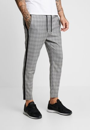 ONSLINUS CROPPED CHECK TAPE PANT - Broek - medium grey melange