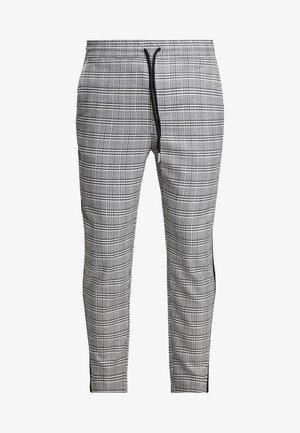 ONSLINUS CROPPED CHECK TAPE PANT - Pantalones - medium grey melange
