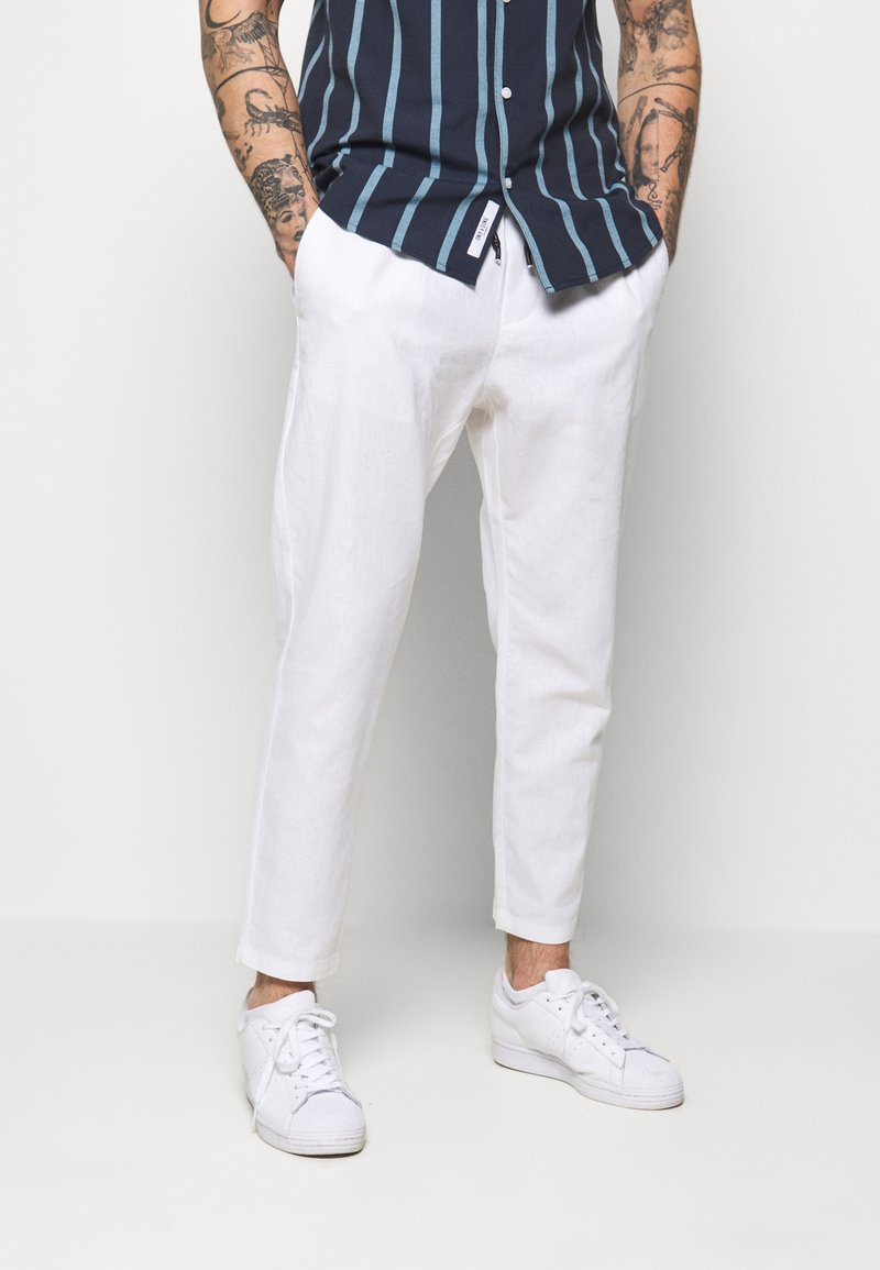 Only & Sons - ONSLINUS CROP  - Stoffhose - bright white