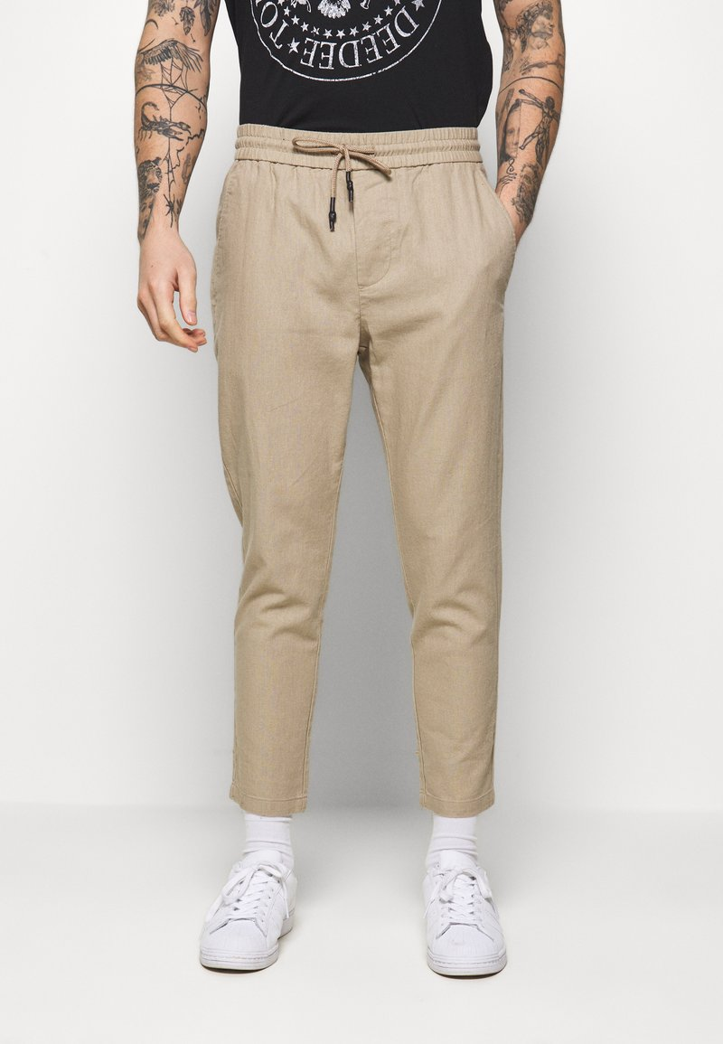 Only & Sons - ONSLINUS CROP  - Trousers - chinchilla