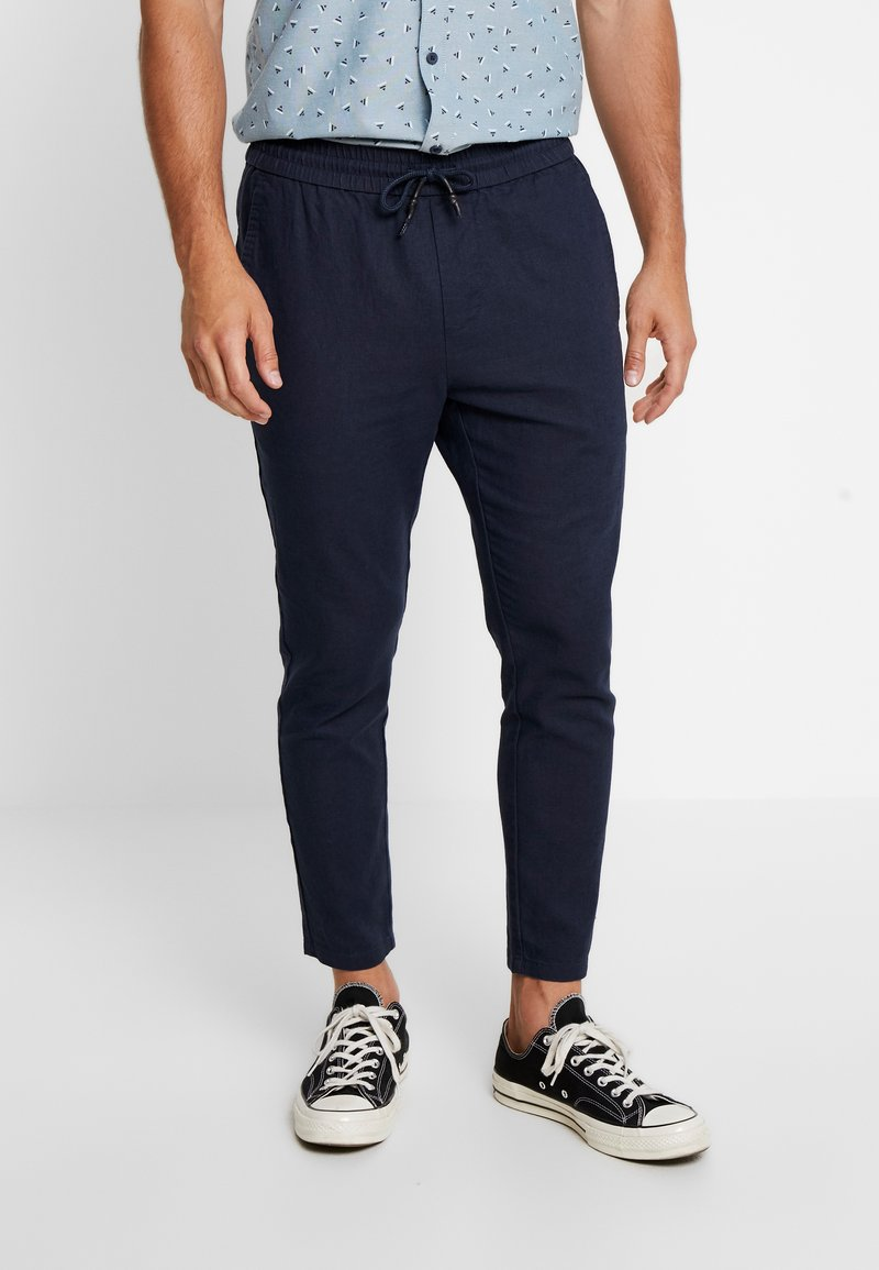 Only & Sons - ONSLINUS CROP  - Stoffhose - dress blues