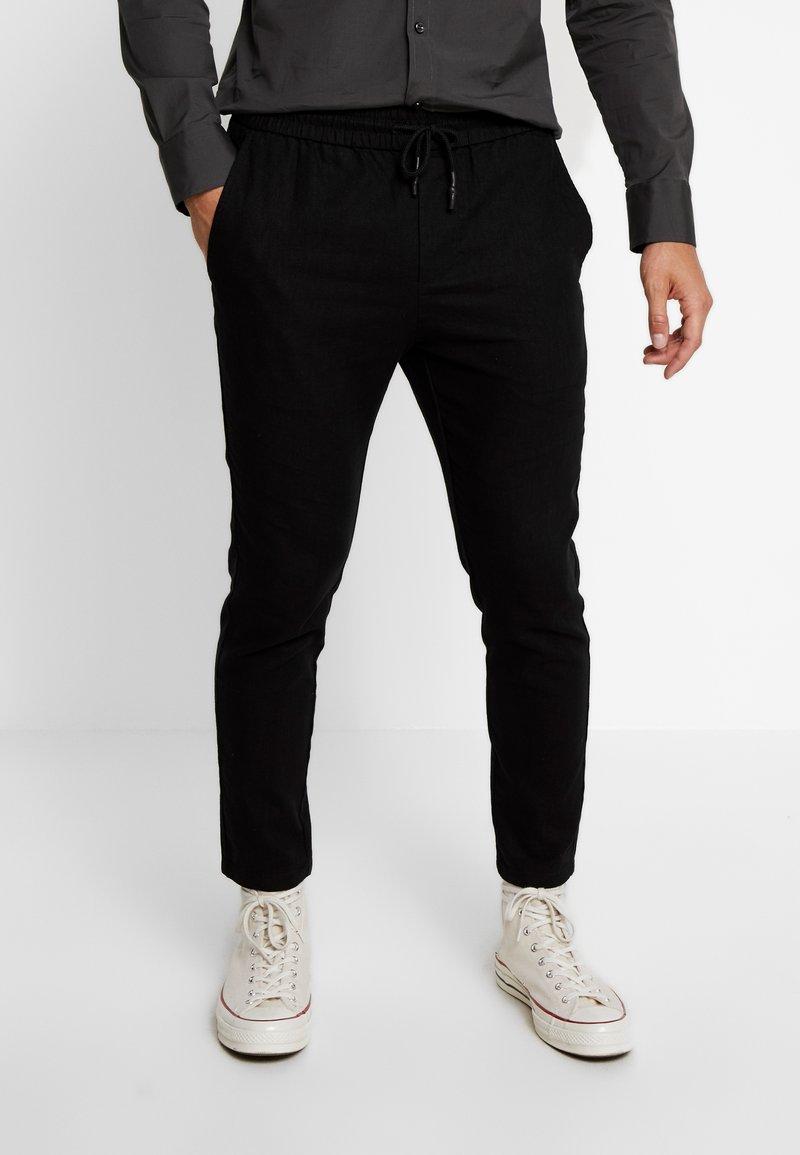 Only & Sons - ONSLINUS CROP  - Trousers - black
