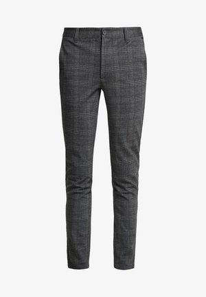ONSMARK CHECK PANTS - Trousers - dark grey melange