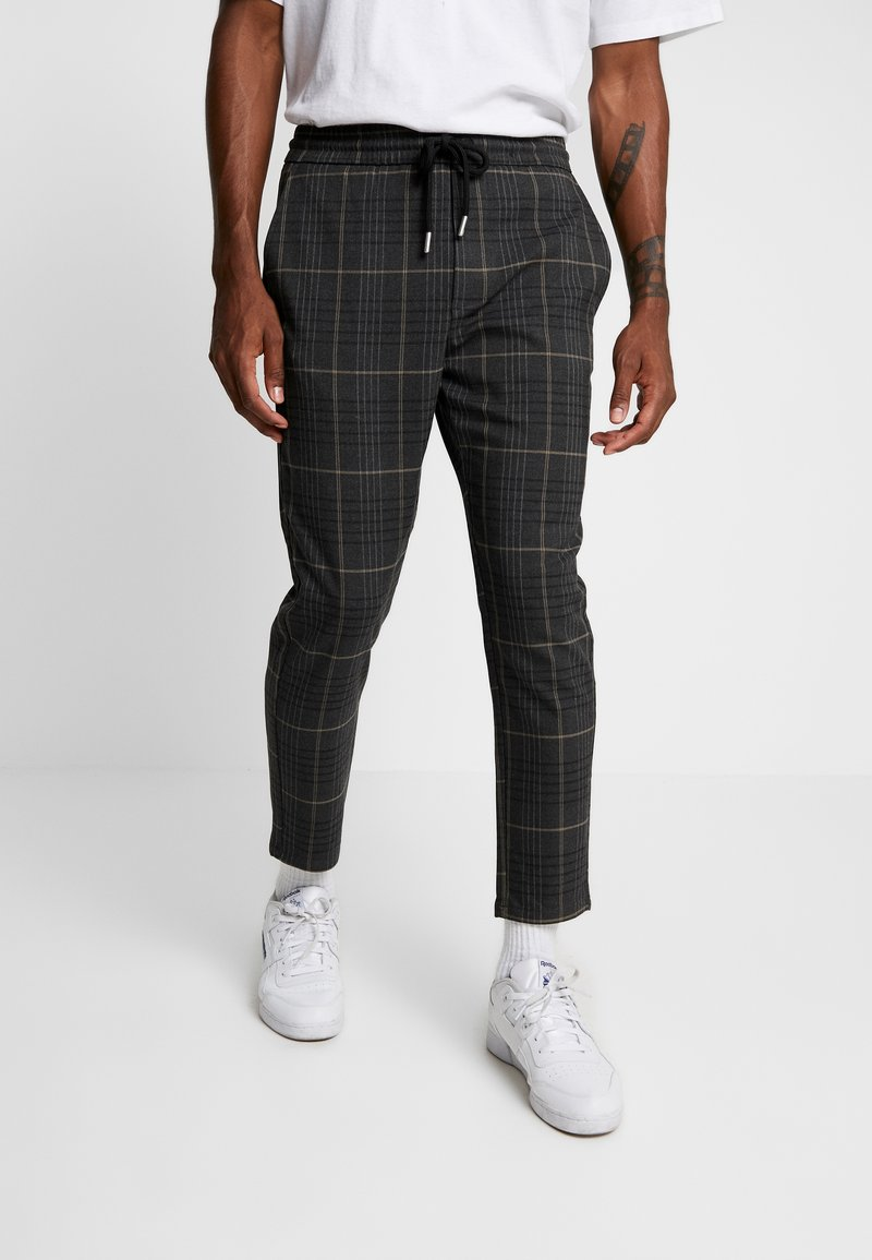 Only & Sons - ONSLINUS CHECK PANT - Stoffhose - almond