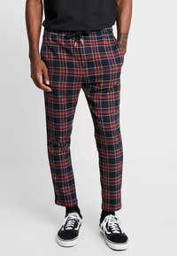 Only & Sons - ONSLINUS CHECK TAPE PANT  - Kalhoty - dress blues - 4