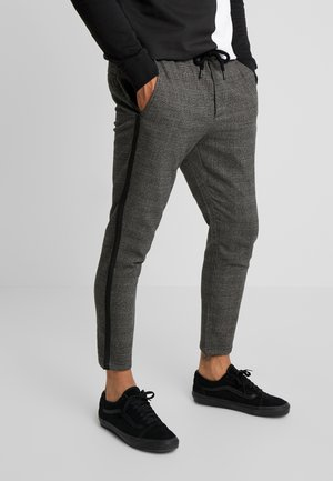 ONSLINUS PANT CHECKS - Tygbyxor - medium grey melange