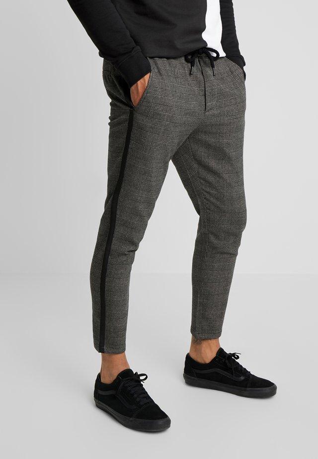 ONSLINUS PANT CHECKS - Trousers - medium grey melange