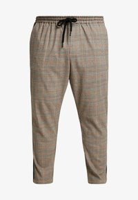 Only & Sons - ONSLINUS PANT CHECKS  - Trousers - chinchilla - 5