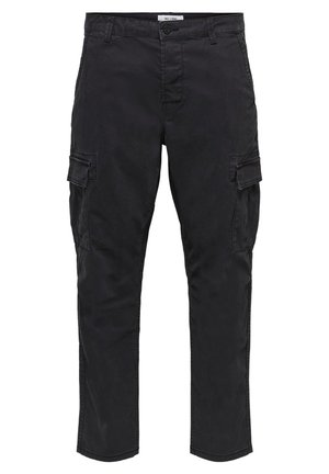 CARGOHOSE REGULAR FIT - Cargobroek - black